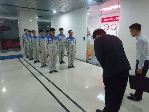 Buổi thi tuyển tay nghề đơn hàng kỹ su xây dựng Nhật Bản