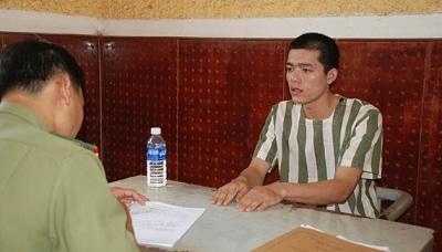 Đối tượng Nguyễn Xuân Mạnh tại Cơ quan an ninh điều tra Công an tỉnh Đác Nông