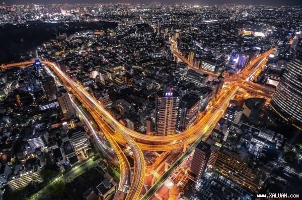 Tokyo từ trên cao nhìn xuống