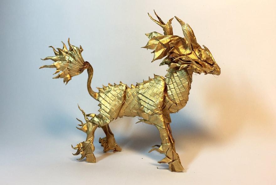Origami hình kỳ lân