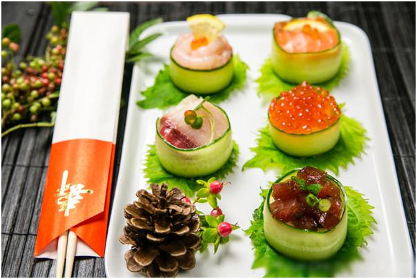 Thành phần của sushi Nhật Bản