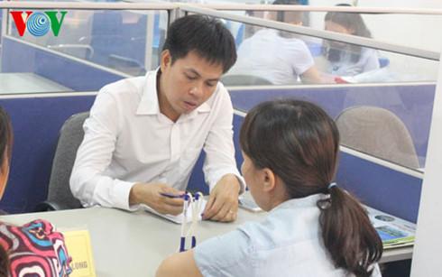 Lao động tham buổi phỏng vấn trực tiếp với nhà tuyển dụng