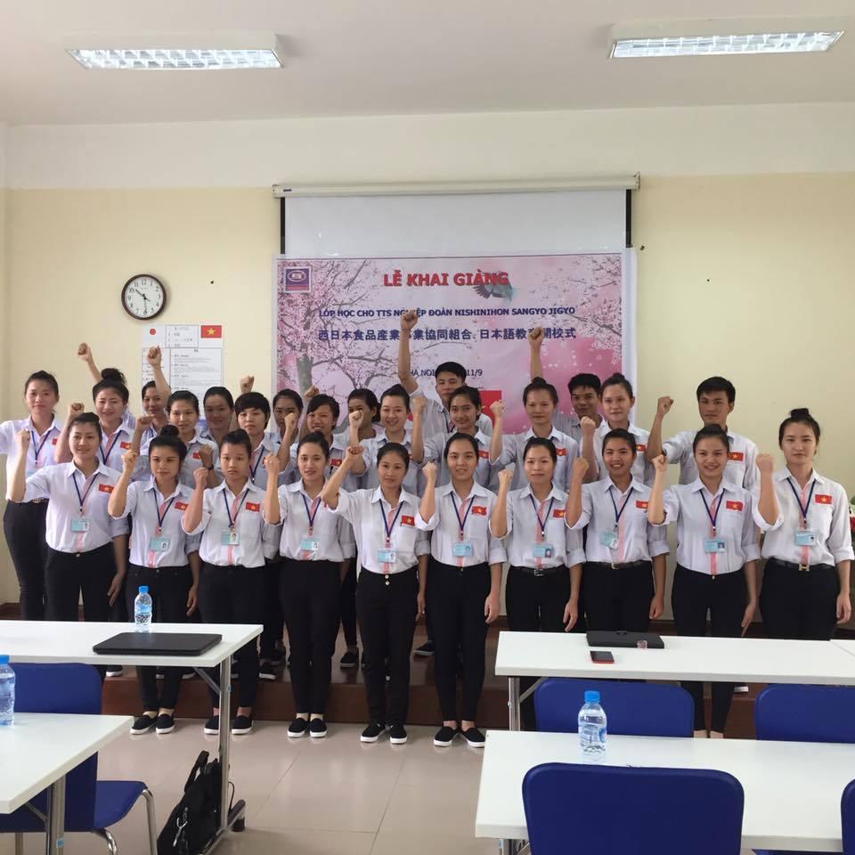 Khai giảng lớp học sau trúng tuyển tại Nhân Lực Nhật Bản