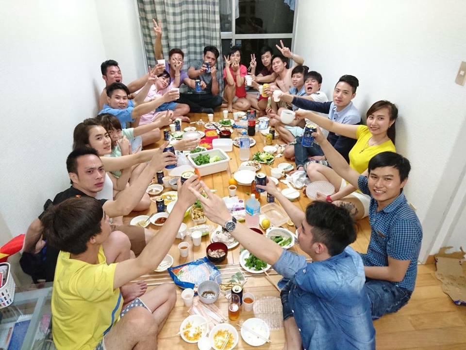 Bữa ăn thịnh soạn của thực tập sinh Việt Nam tại Nhật Bản