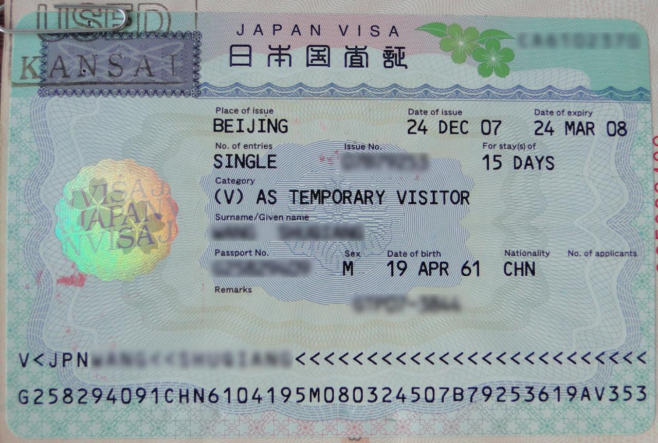 Visa thăm người thân tại Nhật Bản