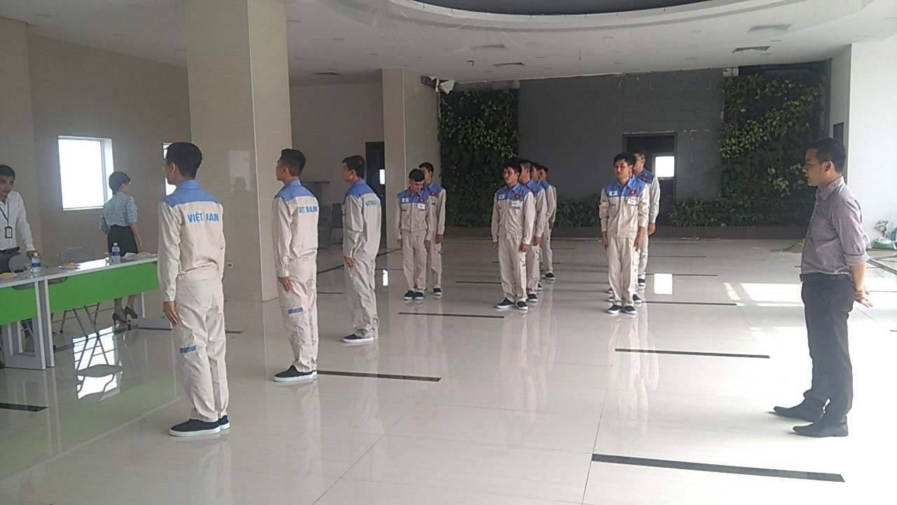 Buổi thi tuyển tay nghề đơn hàng kỹ sư cơ khí Nhật Bản