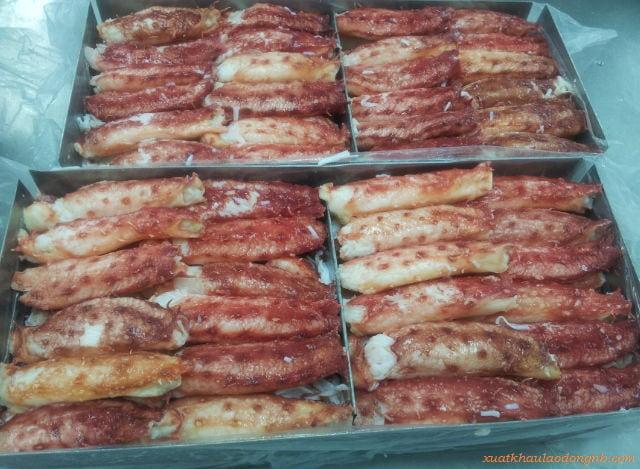 Thịt càng cua đóng hộp không ướp lạnh
