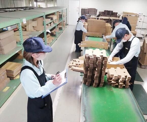 Lao động Việt Nam làm đóng gói công nghiệp tại xưởng