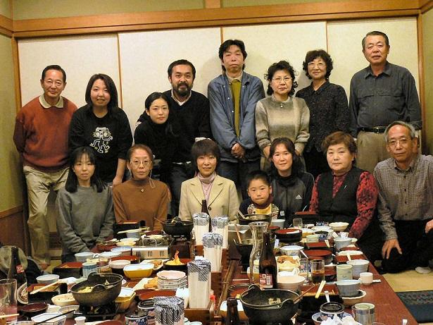 Một gia đình của Nhật. Ta thấy rõ sự su giảm nhân khẩu qua các thế hệ