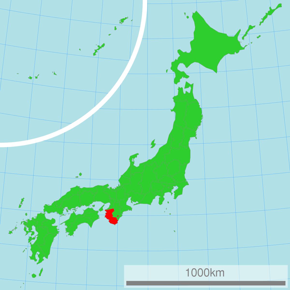 Vị trí của tỉnh Aichi trên bản đồ