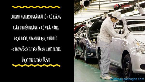 Xuất khẩu lao động Nhật Bản ngành ô tô