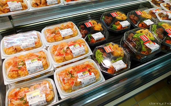 Thức ăn được đóng gói trong siêu thị
