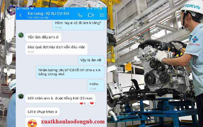 Kỹ sư cơ khí của Việt Nam làm việc tại Nhật Bản