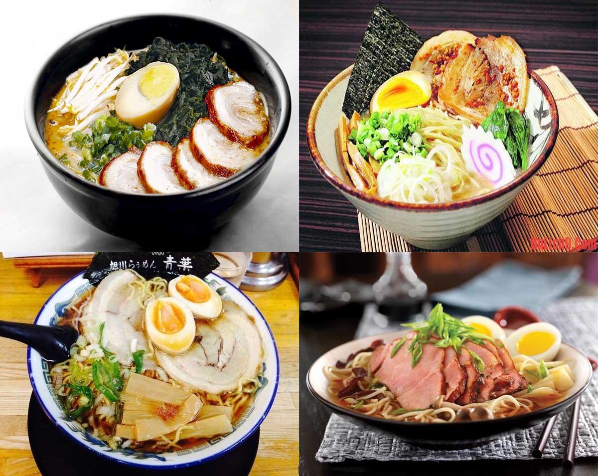 Vài loại Ramen nổi tiếng tại Nhật Bản