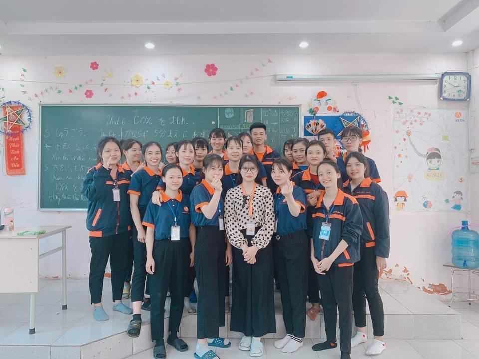 Hình ảnh ở một lớp đào tạo tiếng Nhật của công ty
