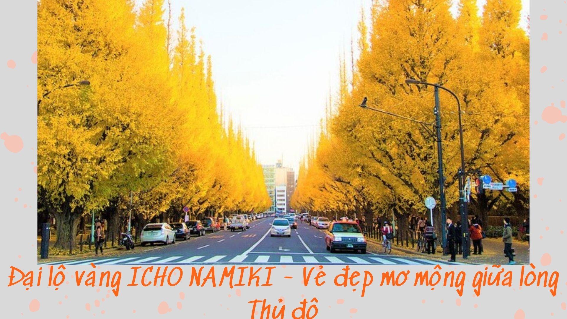 Đại lộ vàng ICHO NAMIKI - Vẻ đẹp lãng mạn, mơ mộng giữa lòng Tokyo